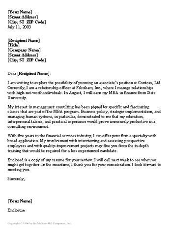 management consulted cover letter - management consultant cover letter useful letters templates