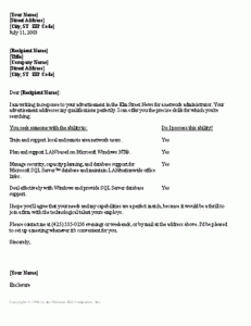 network administrator cover letter professional letters templates